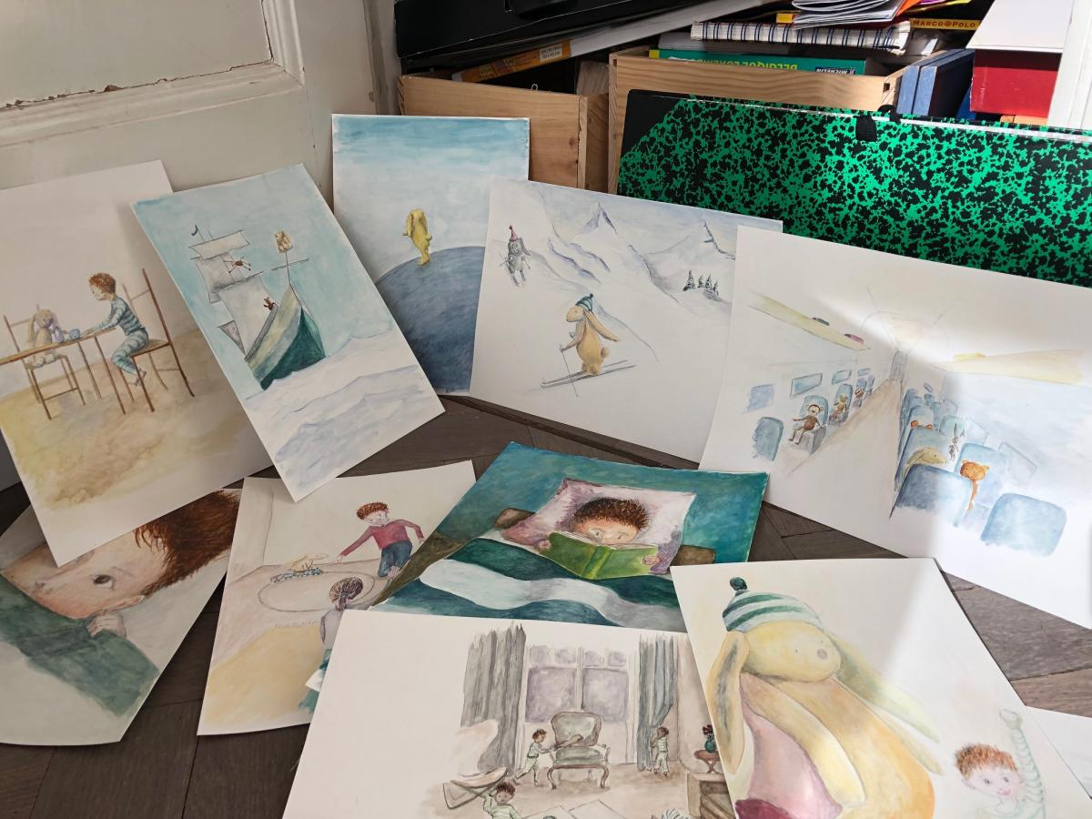 Drawings for the book Doudou a disparu
