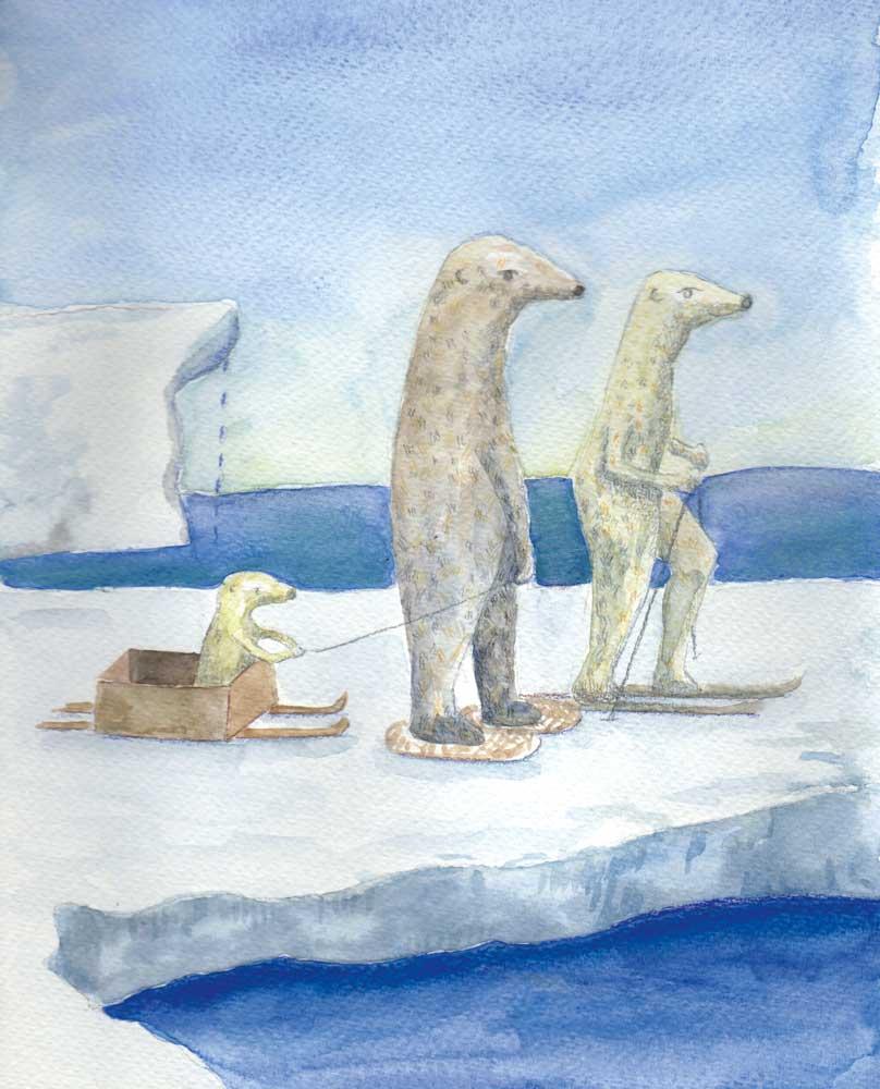 3 ours en promenade - Boucle d'or au pôle nord