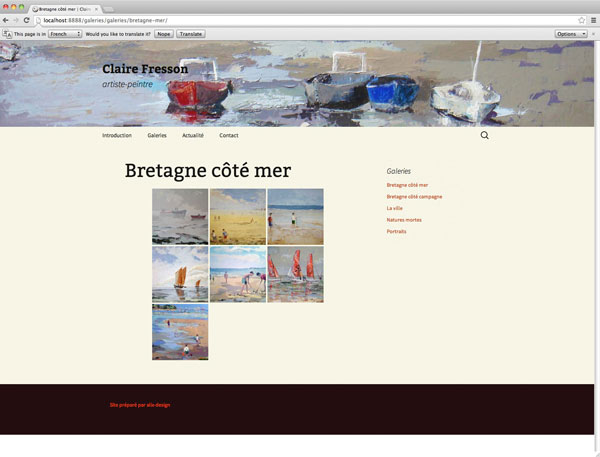 Website of Claire Fresson