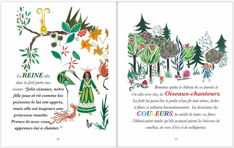 p.12 and 13 of La Princesse Muette, Claire Fresson