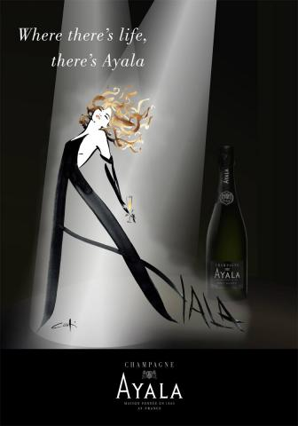 Poster for Champagne Ayala in the US