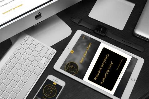 Website of Dare Authenticity on Mac